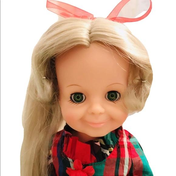 Custom Ideal Velvet Doll 1969 Green Eyes Grow Hair